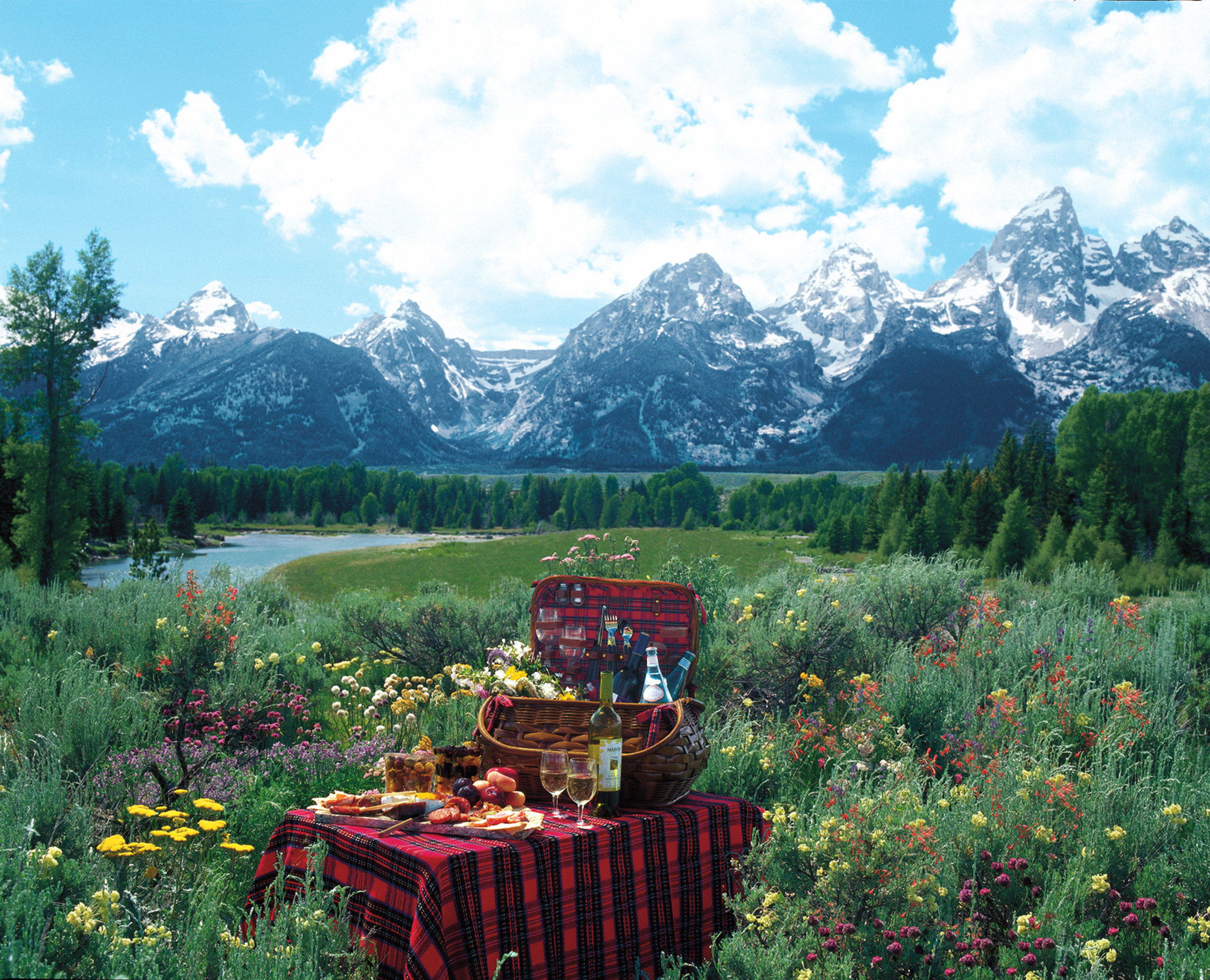 Grounds Mountains Nature Outdoors mountain sky tree mountainous landforms habitat wilderness mountain range natural environment ecosystem flower meadow grassland valley landscape rural area alps plateau wildflower Lake woodland autumn plant