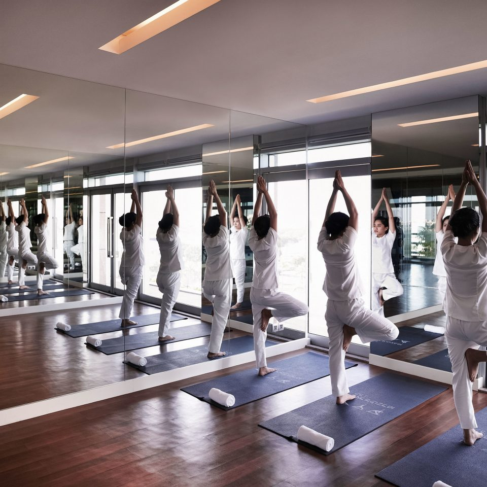 structure gym standing sport venue sports physical fitness group