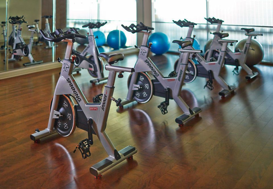structure gym sport venue sports equipment indoor cycling physical fitness
