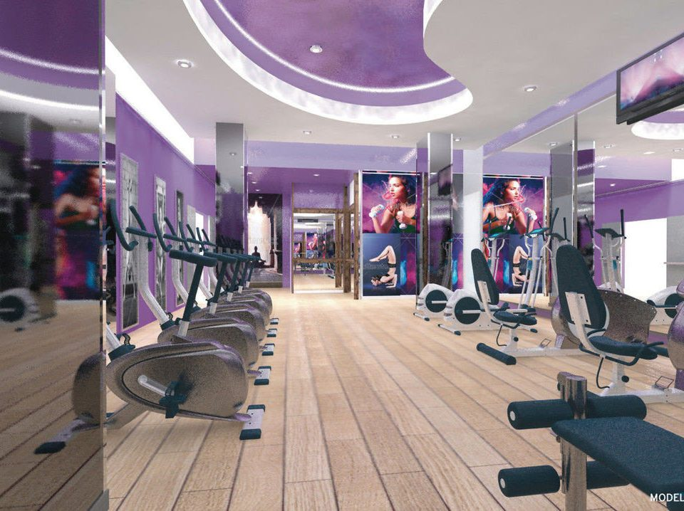 structure gym sport venue leisure physical fitness purple