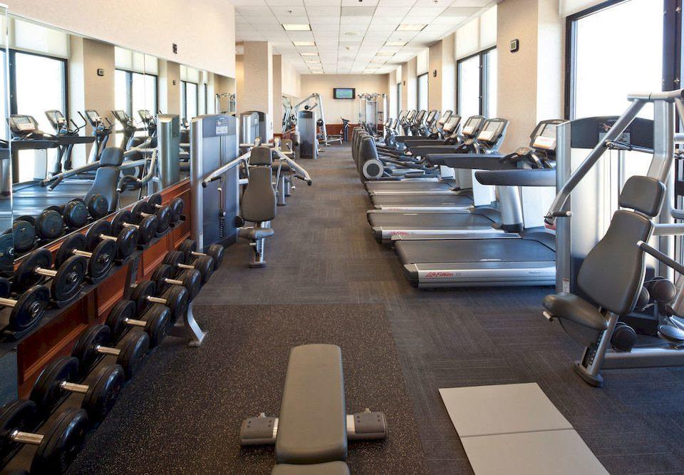 structure gym sport venue long lined line