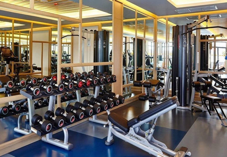 structure gym sport venue physical fitness weight training