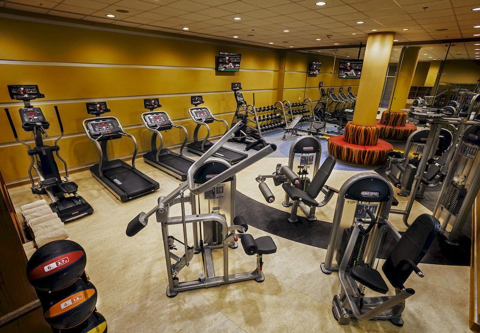 structure gym sport venue yellow