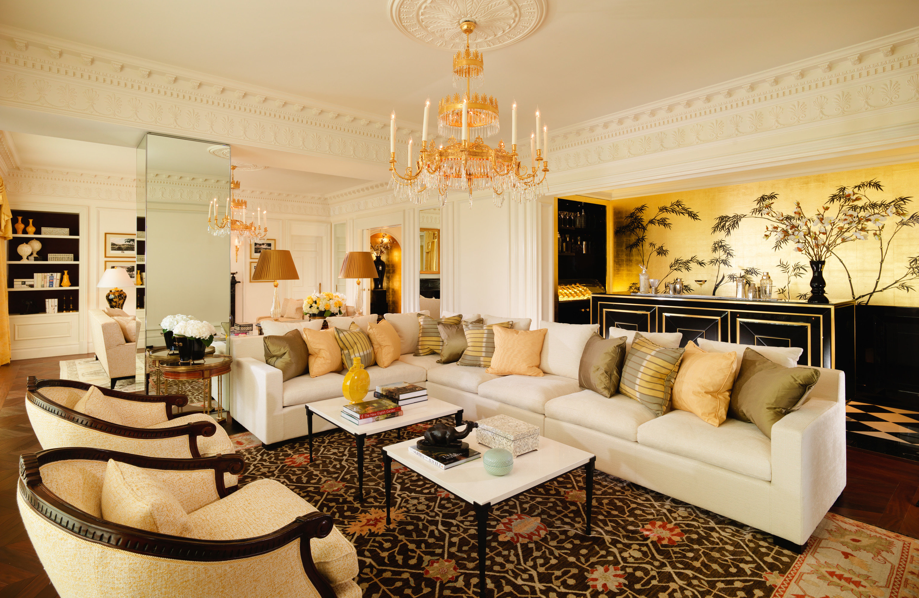 Hotels Luxury Travel indoor wall Living room floor table living room interior design property ceiling home furniture real estate Suite interior designer Lobby couch decorated several