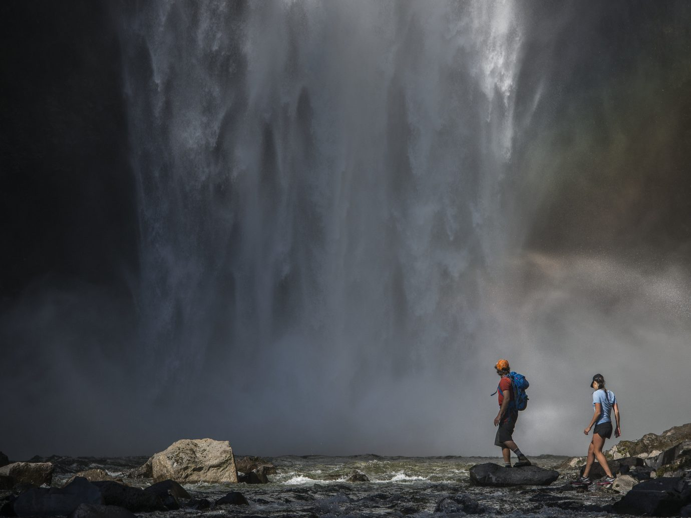 Trip Ideas Nature outdoor Waterfall body of water atmospheric phenomenon water feature water rock Sea Adventure wave