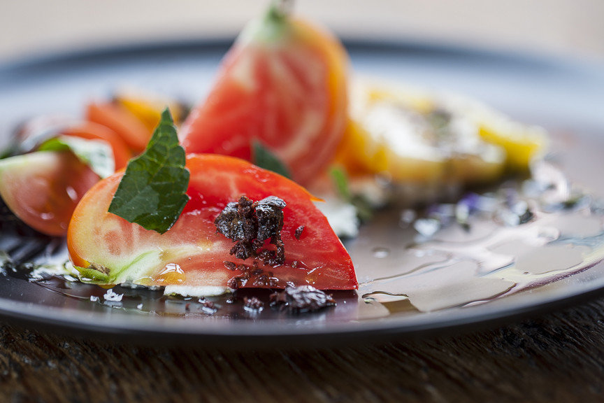 Food + Drink plate food dish plant produce smoked salmon land plant hors d oeuvre fruit meal cuisine breakfast flowering plant vegetable slice bruschetta fresh