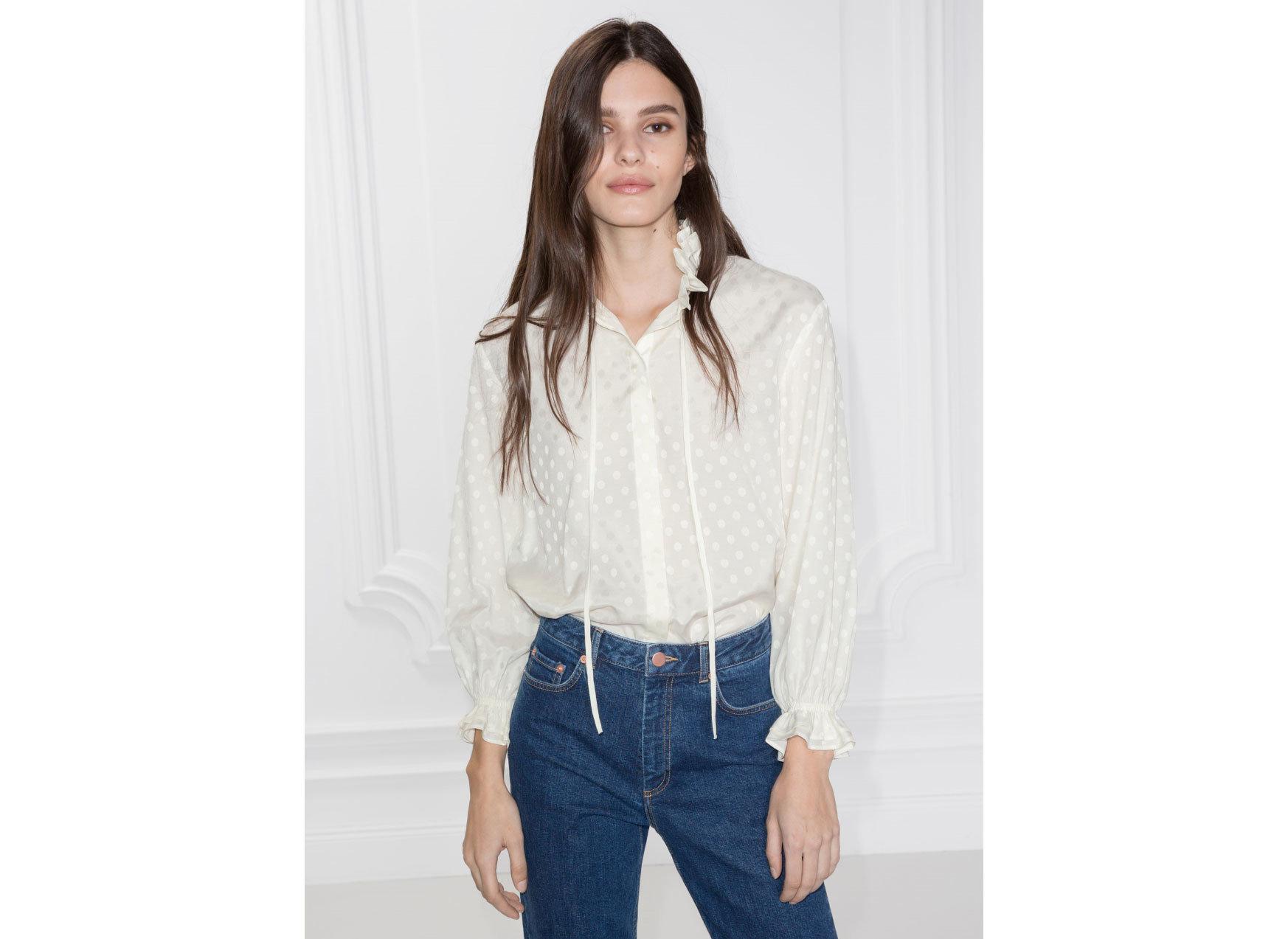 Style + Design Travel Shop person clothing posing fashion model standing sleeve shoulder jeans neck denim long hair blouse supermodel top model shirt button trouser