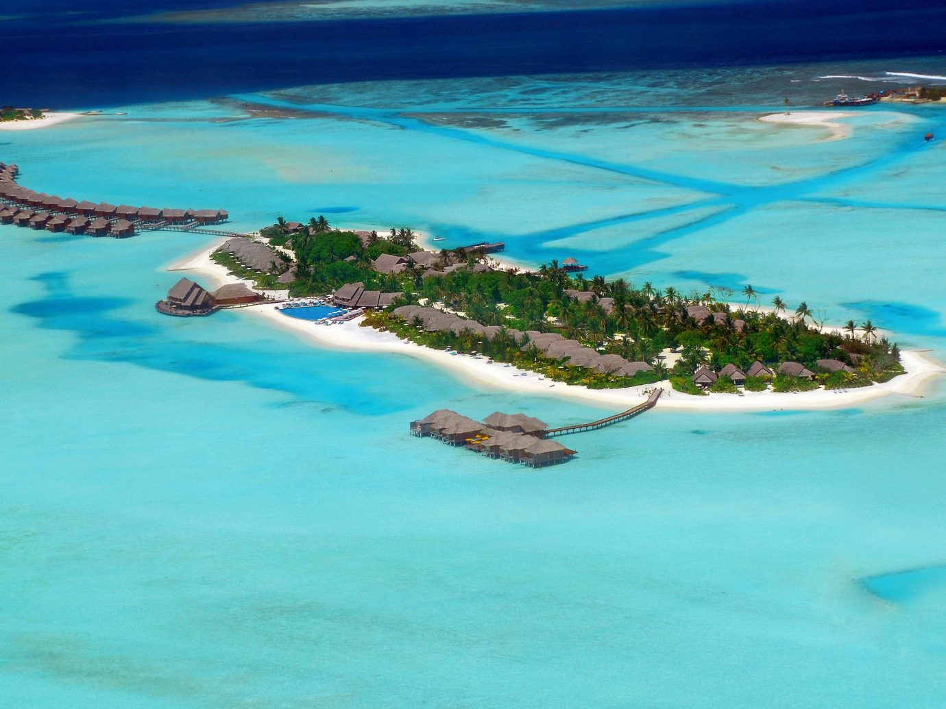 Aerial view of Anantara Dhigu Maldives Resort