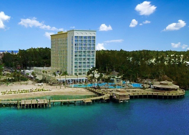 sky water building marina scene Harbor property dock condominium Resort blue day Island
