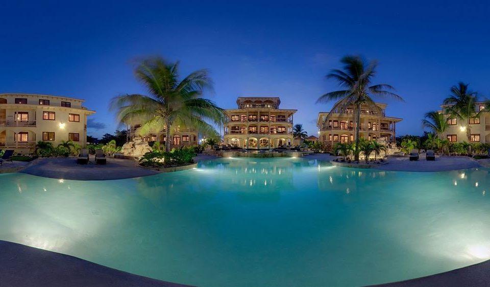 swimming pool property Resort condominium resort town mansion Villa Lagoon Harbor surrounded