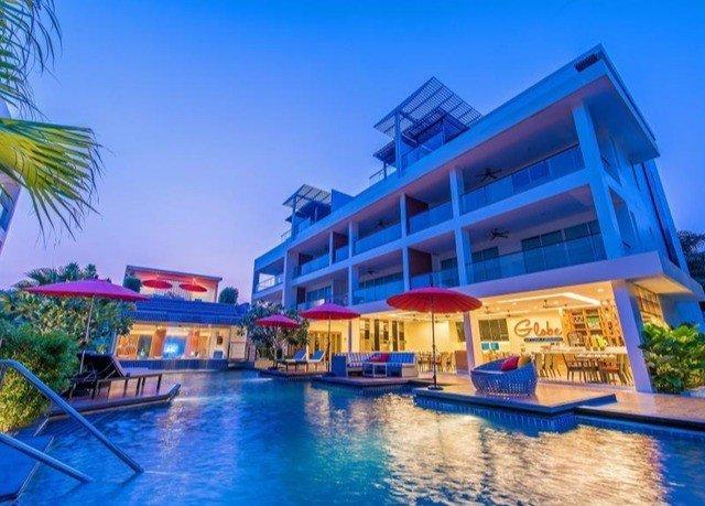 condominium property scene Resort swimming pool leisure blue resort town caribbean marina Water park Harbor Villa colorful