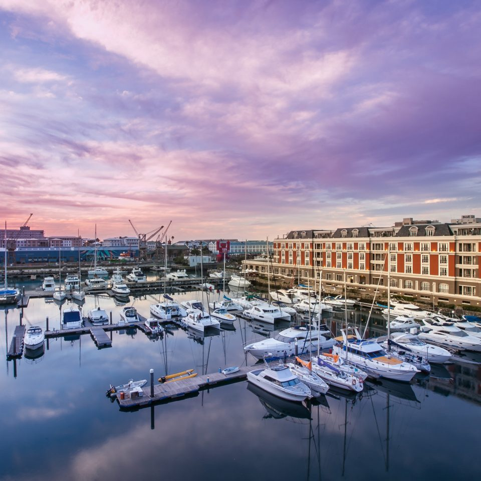 sky scene marina Harbor dock cityscape horizon Sea evening dusk morning vehicle Sunset River waterway port skyline cloudy docked clouds lined