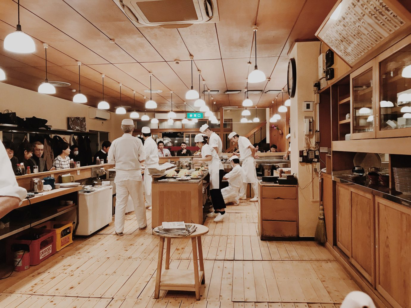 Influencers + Tastemakers Japan Photo Diary Tokyo indoor floor interior design ceiling café restaurant furniture