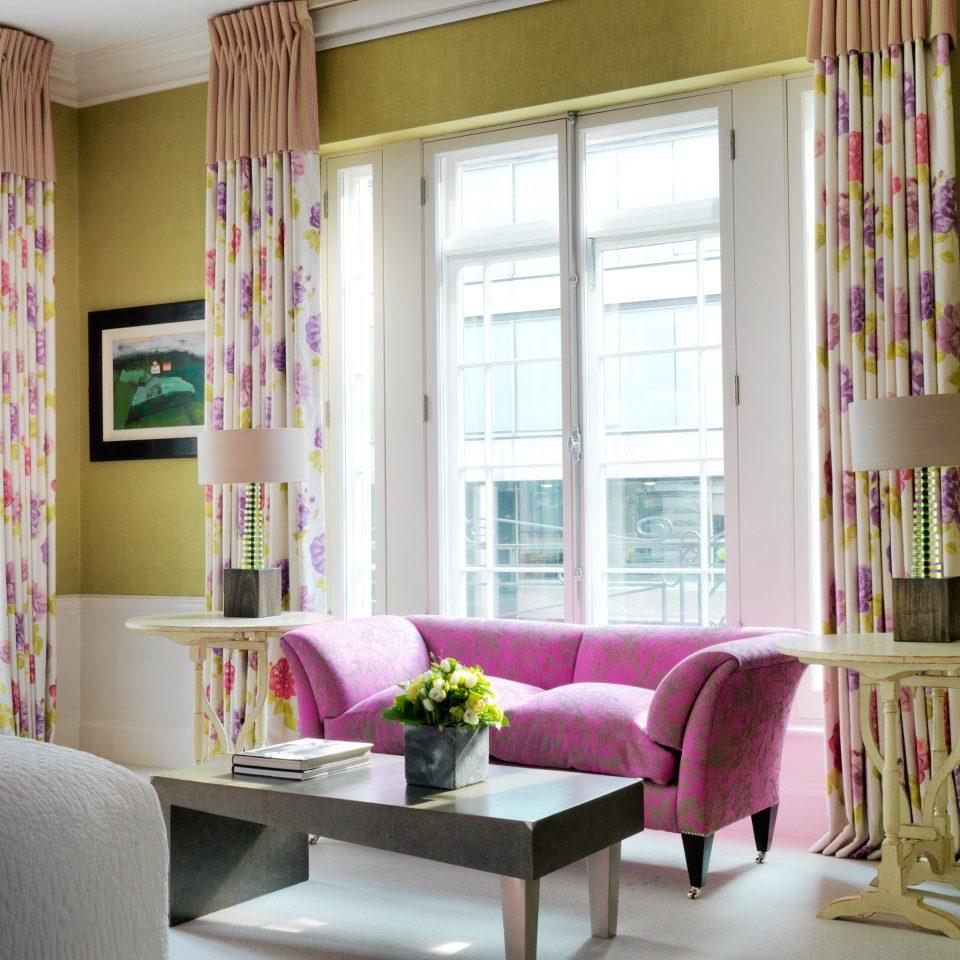 Hip sofa living room curtain home window treatment pink textile