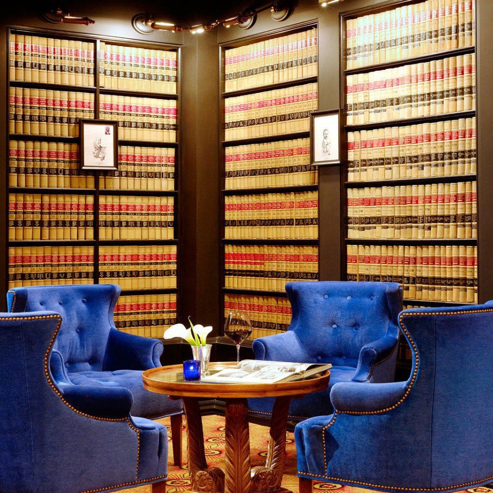 Hip Historic Lounge Modern blue living room