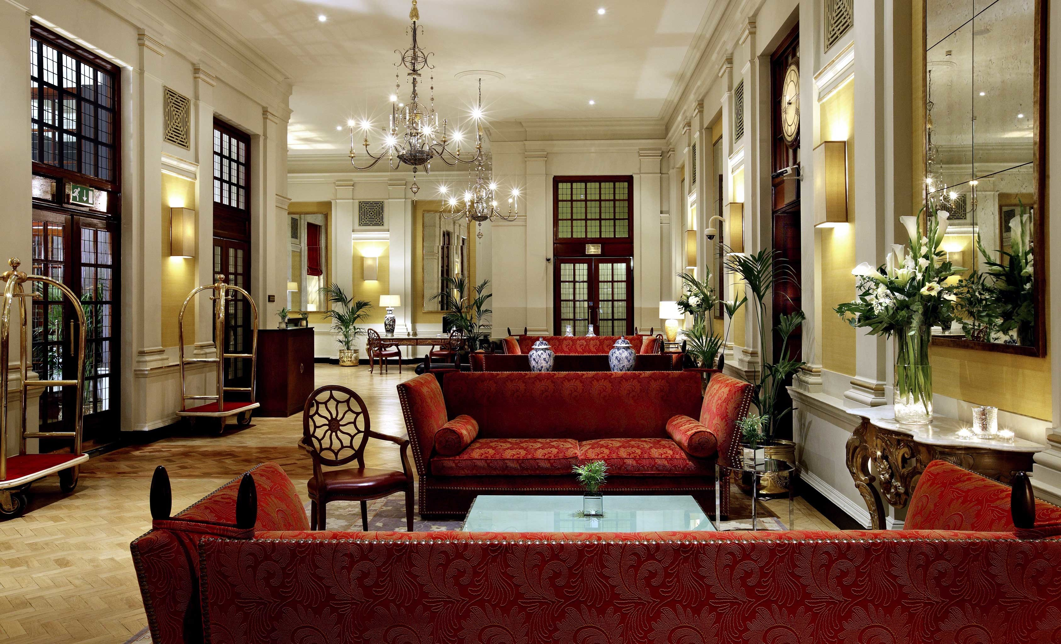 Hip Hotels Lounge Luxury Trip Ideas sofa Lobby living room red home palace mansion leather