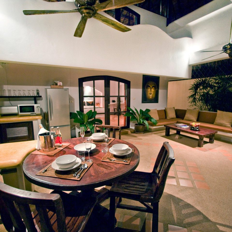 Hip Island Kitchen Tropical property home house living room cottage recreation room Villa