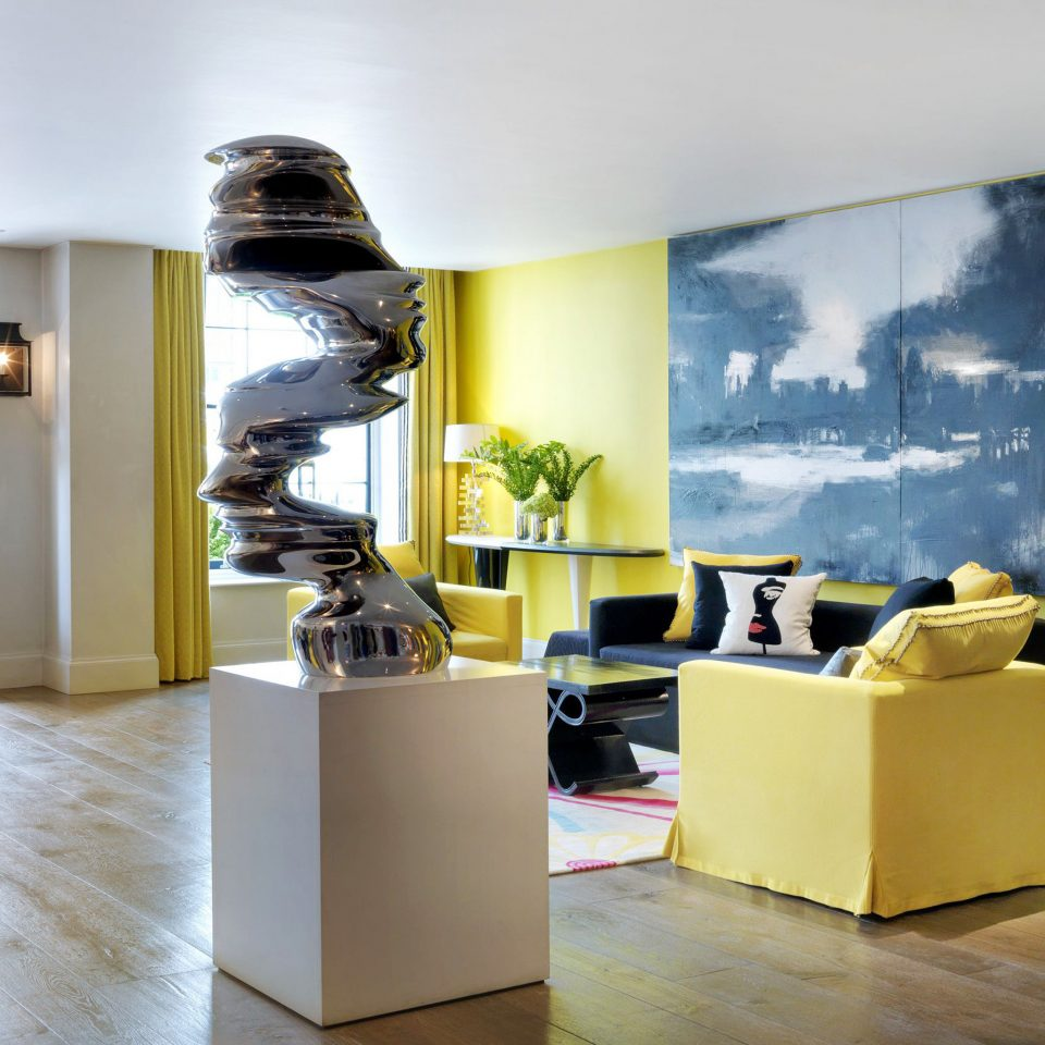 Hip Lobby home living room office modern art tourist attraction