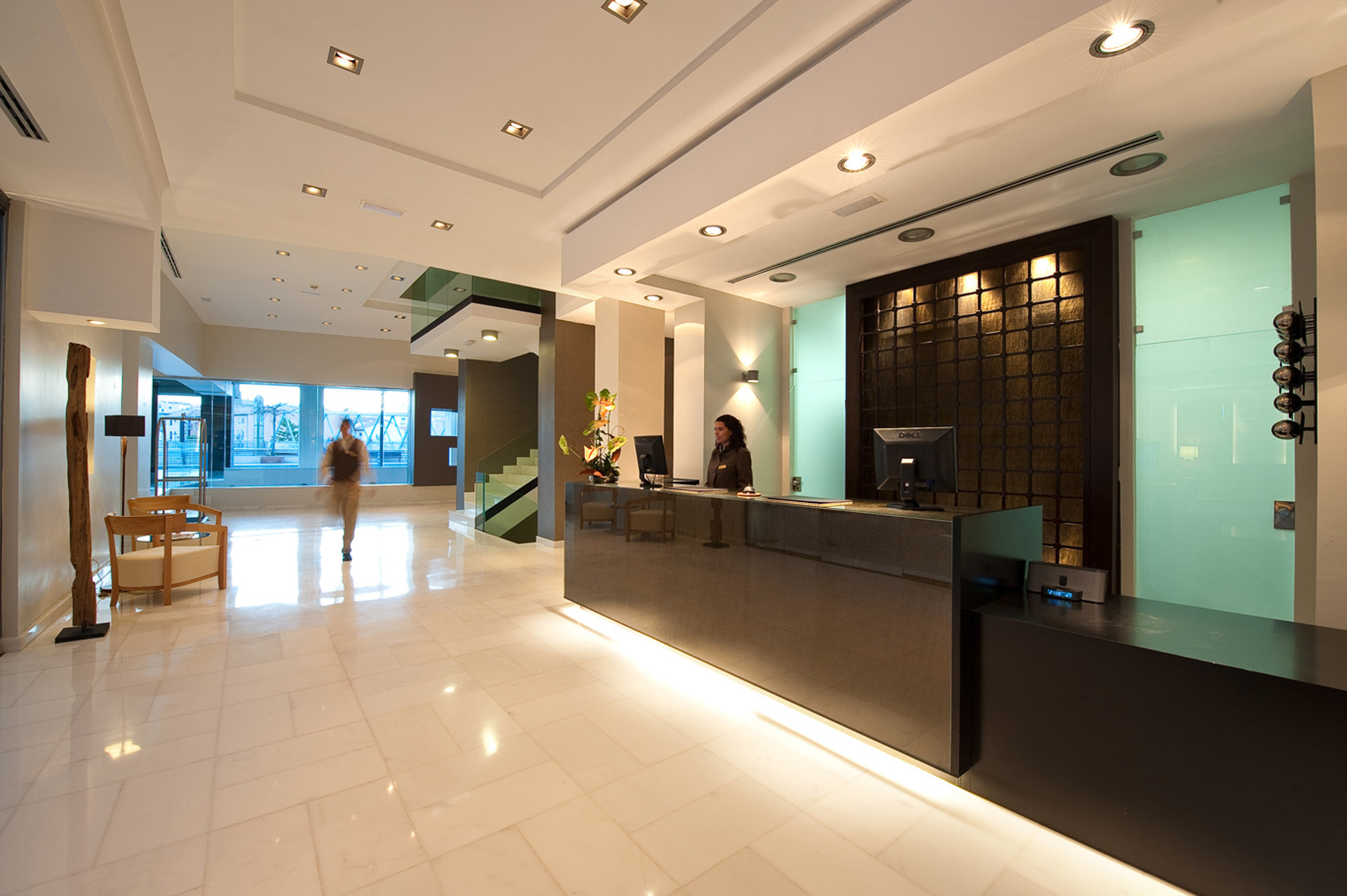 Hip Lounge Luxury Modern Lobby building headquarters tourist attraction shopping mall receptionist long