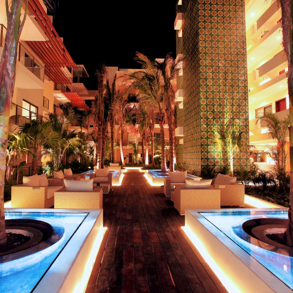Hip Lounge Luxury Modern Romantic building Resort restaurant swimming pool light Lobby plaza