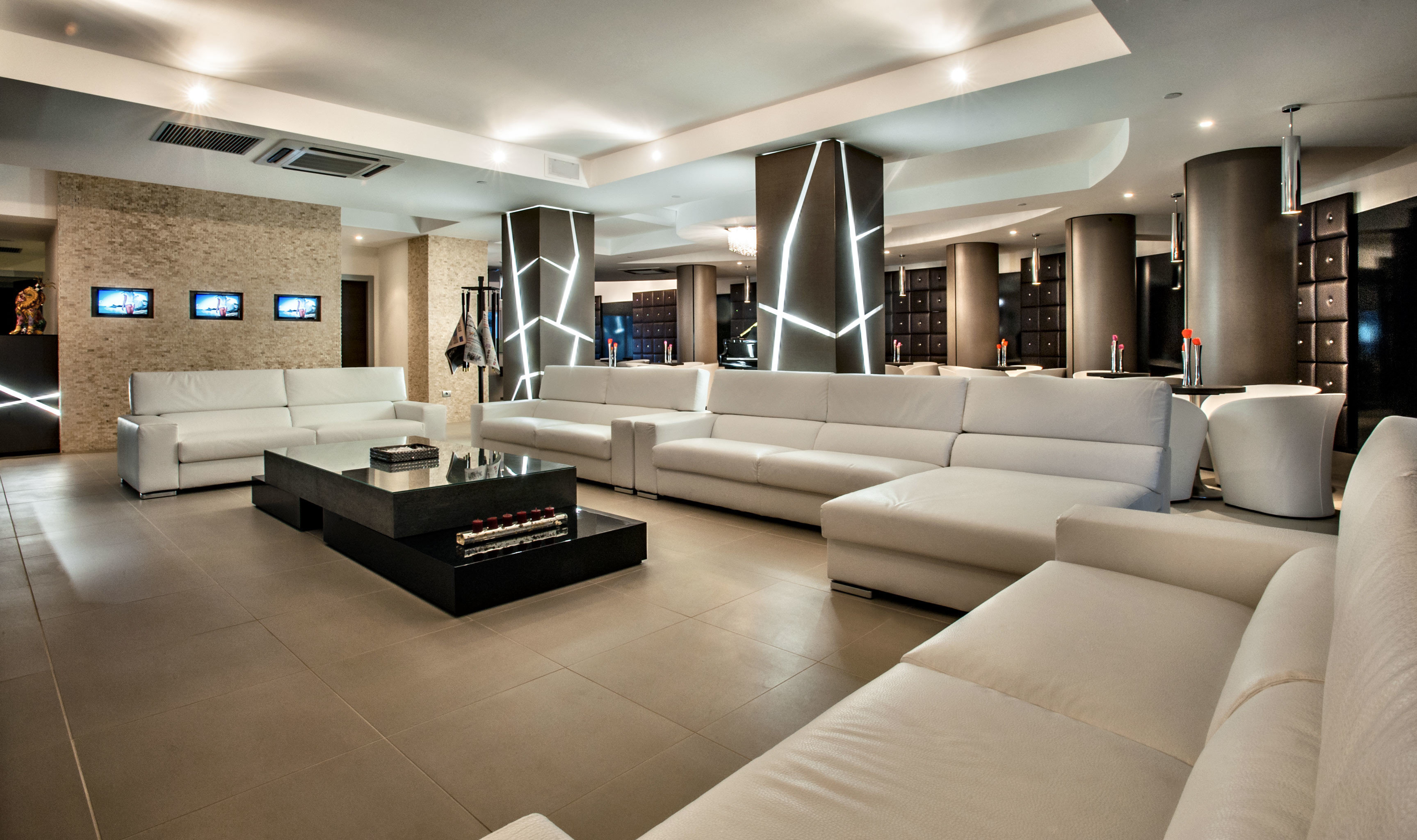 Hip Lounge Luxury sofa living room property white Lobby home yacht condominium vehicle lighting passenger ship mansion Modern