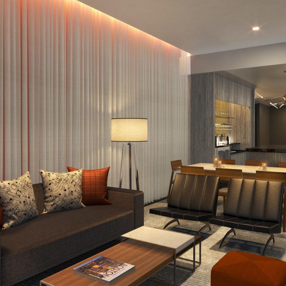 Hip Lounge Luxury Modern Romantic sofa property living room Suite condominium Lobby leather