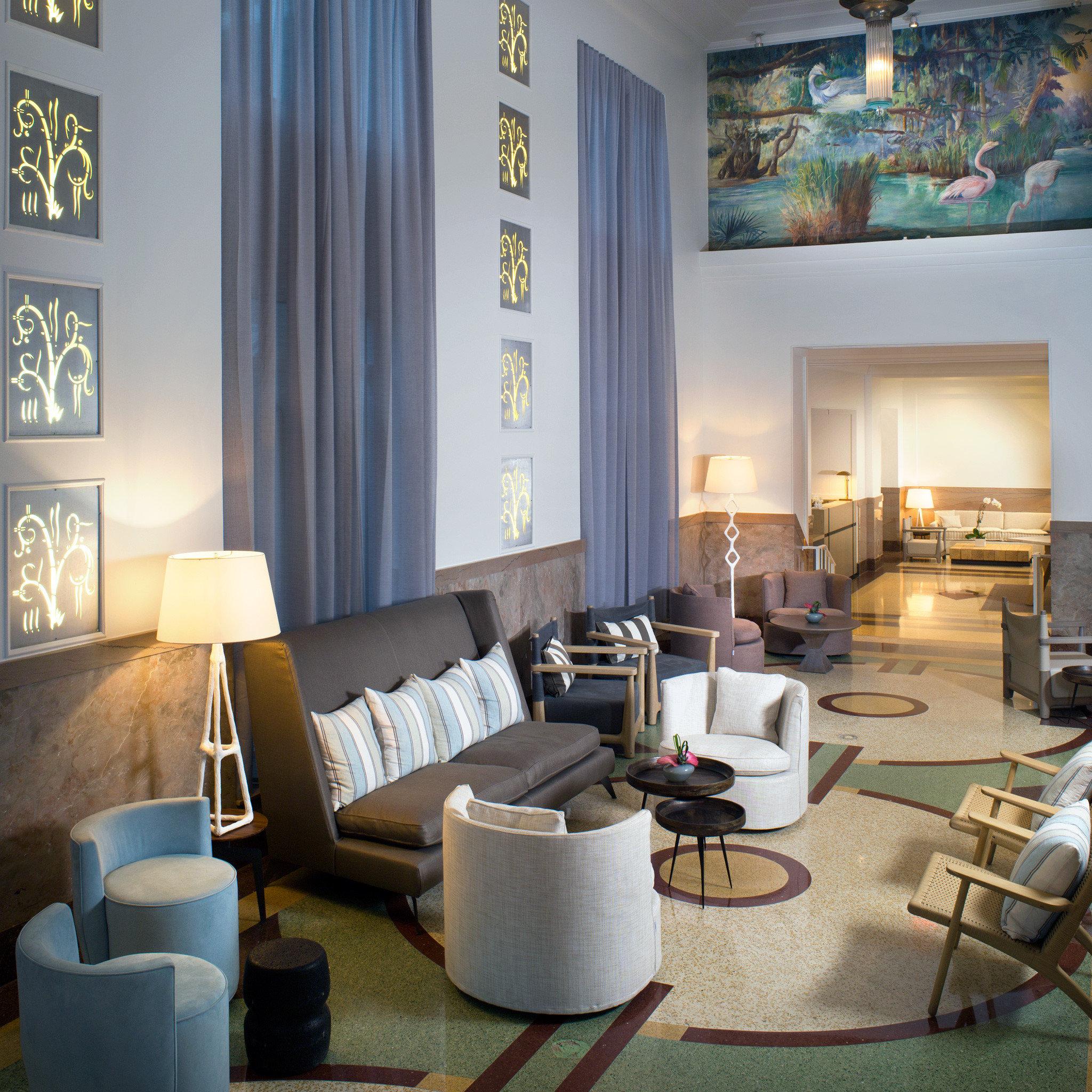 Hip Lounge Luxury Modern living room property chair condominium home Suite Lobby