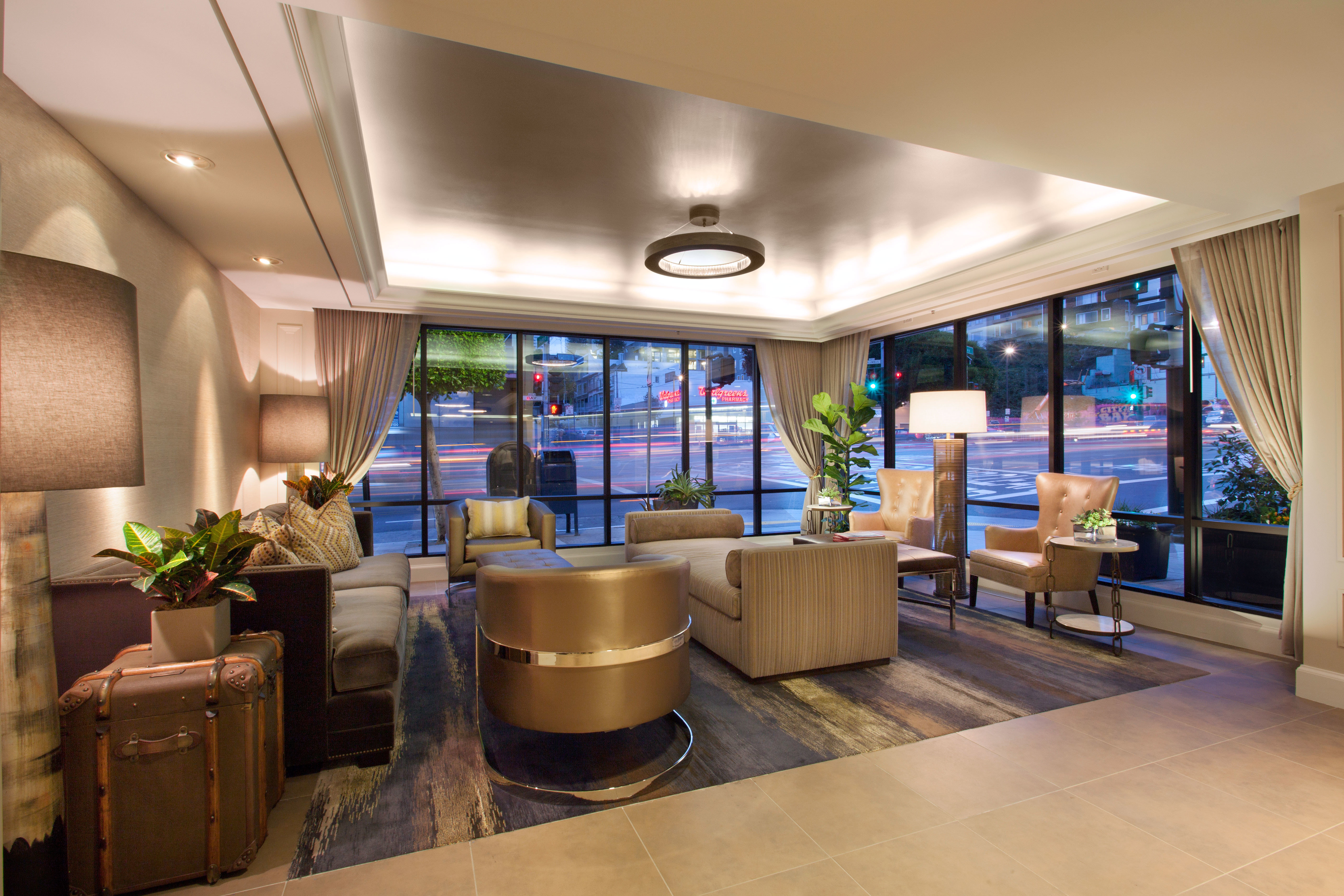 Hip Lounge Luxury Modern Lobby property home condominium living room Resort tub