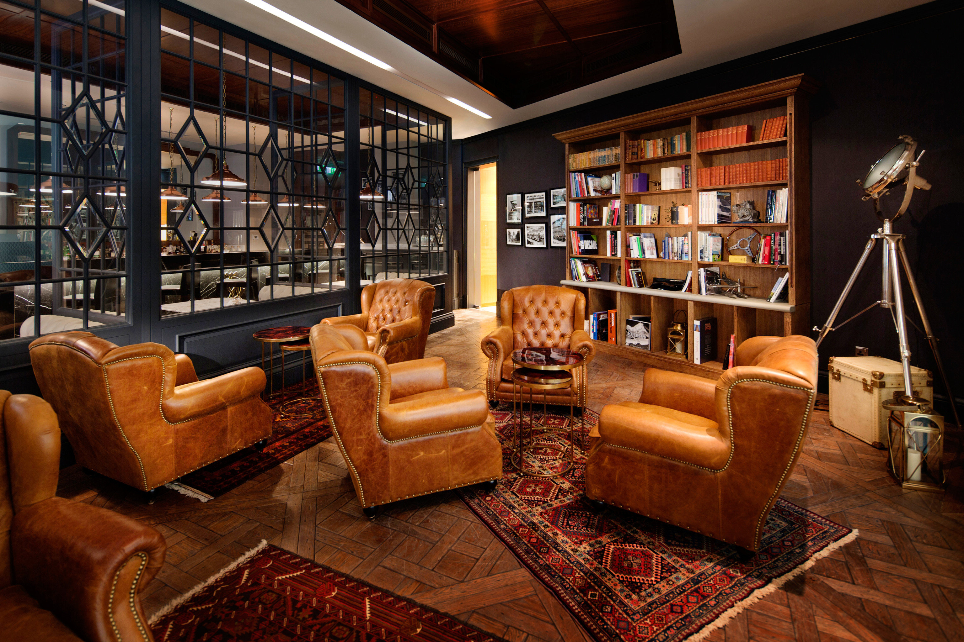 Hip Lounge Luxury Modern sofa living room Lobby home leather