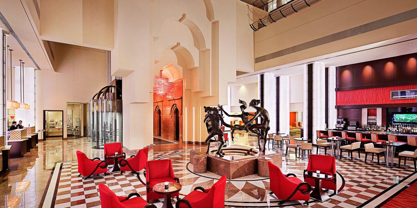 Hip Lounge Luxury Modern restaurant Lobby red function hall
