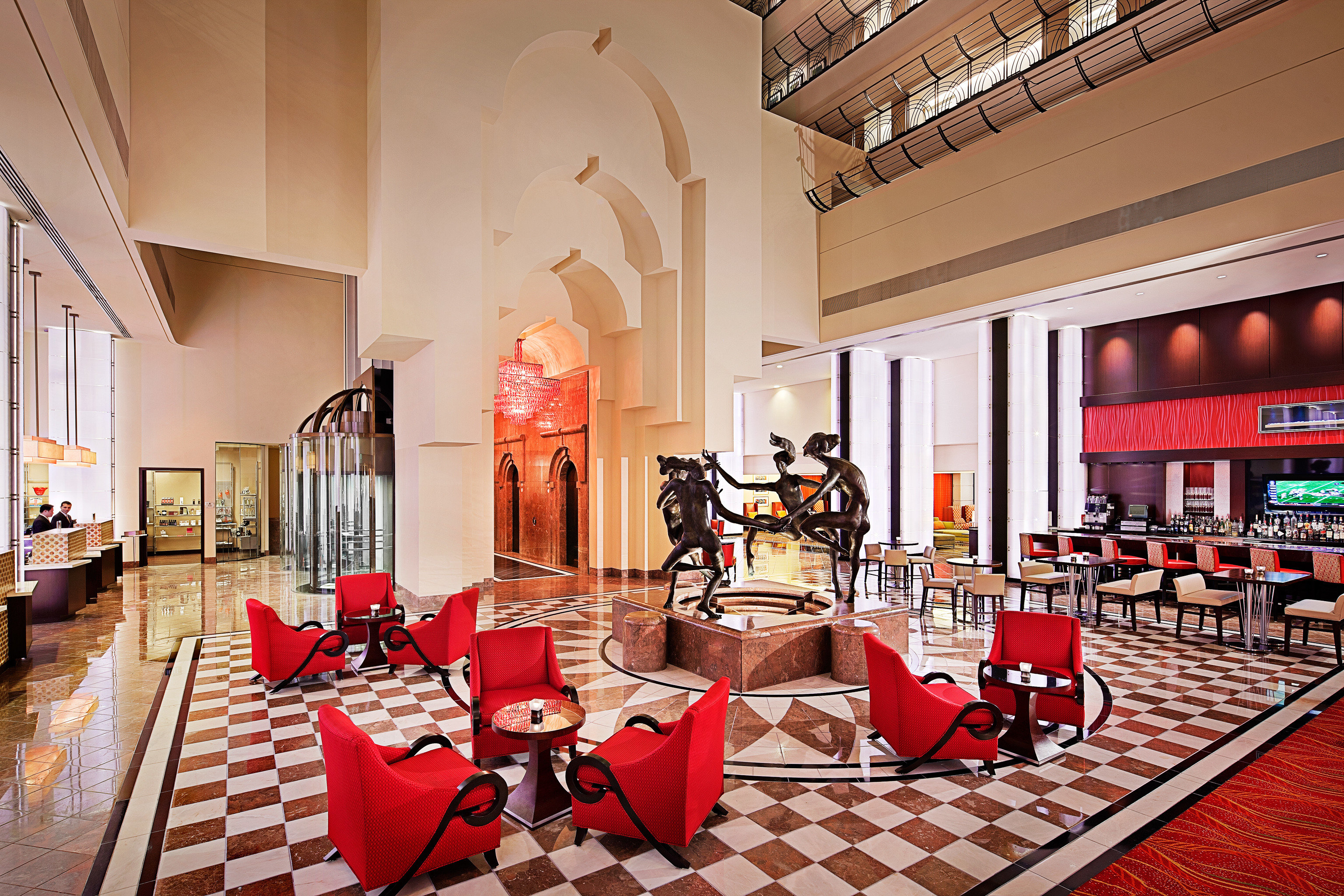 Hip Lounge Luxury Modern restaurant Lobby red function hall
