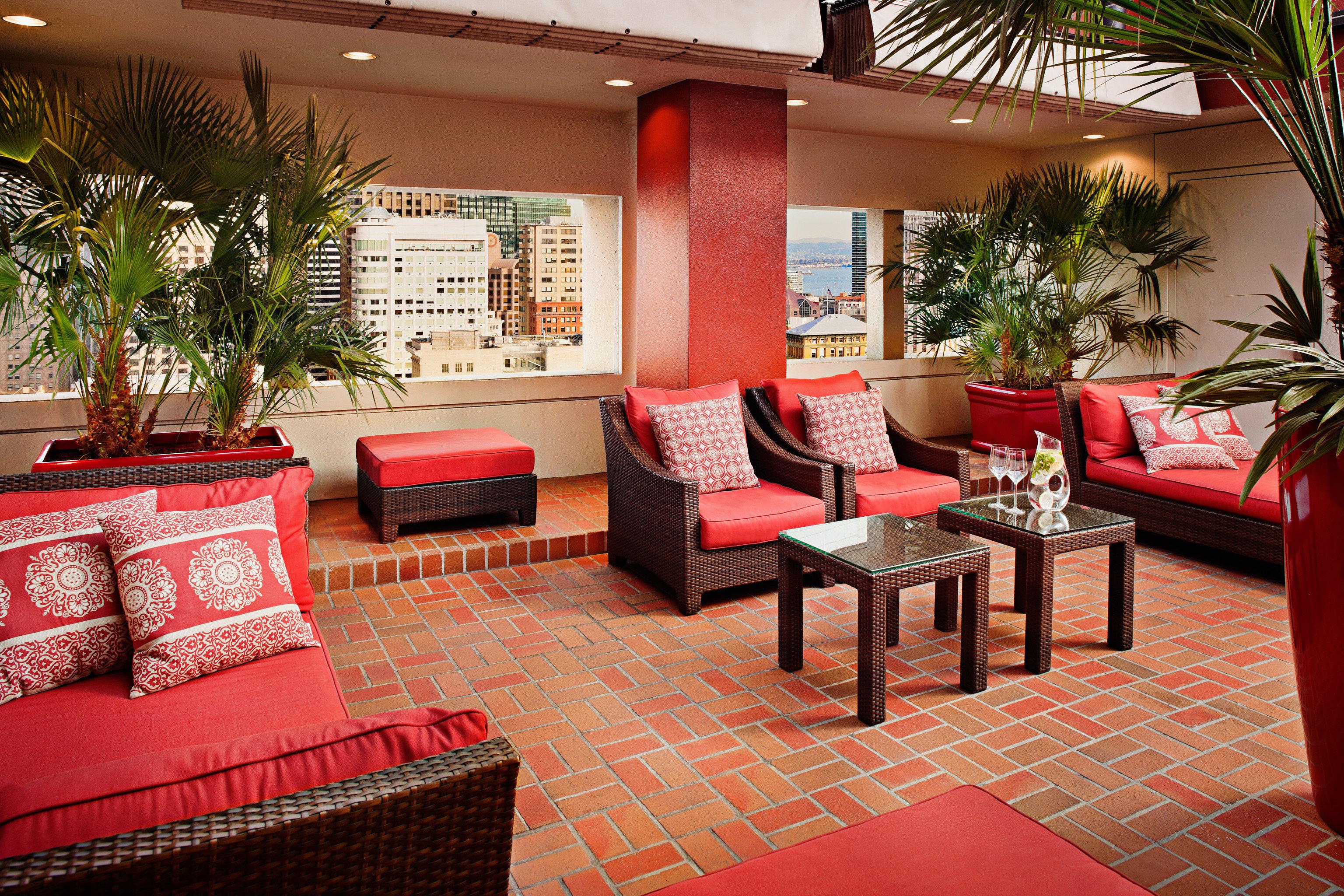 Hip Lounge Luxury Modern sofa red property restaurant Lobby living room Resort home hacienda Villa leather