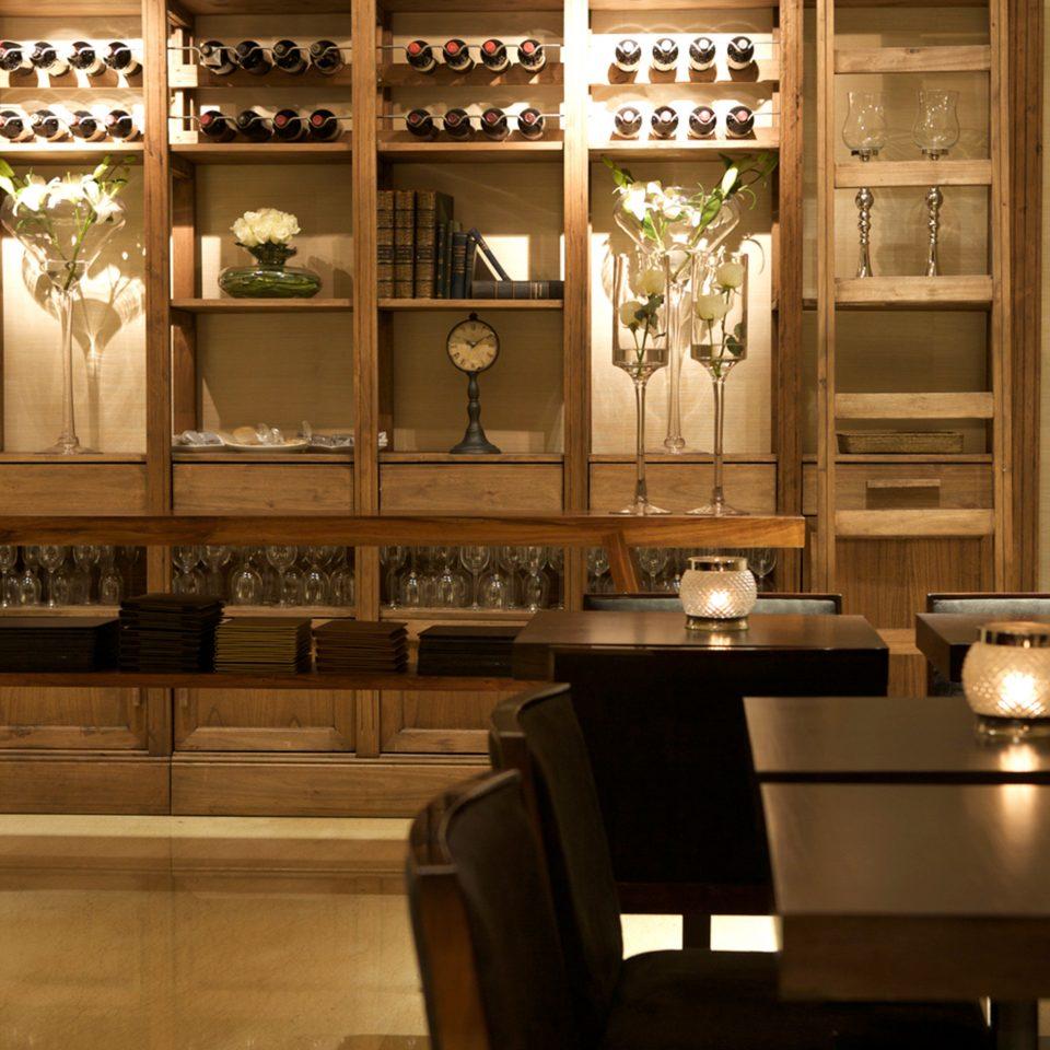 Hip Lounge Luxury Wine-Tasting shelf cabinetry lighting Lobby restaurant