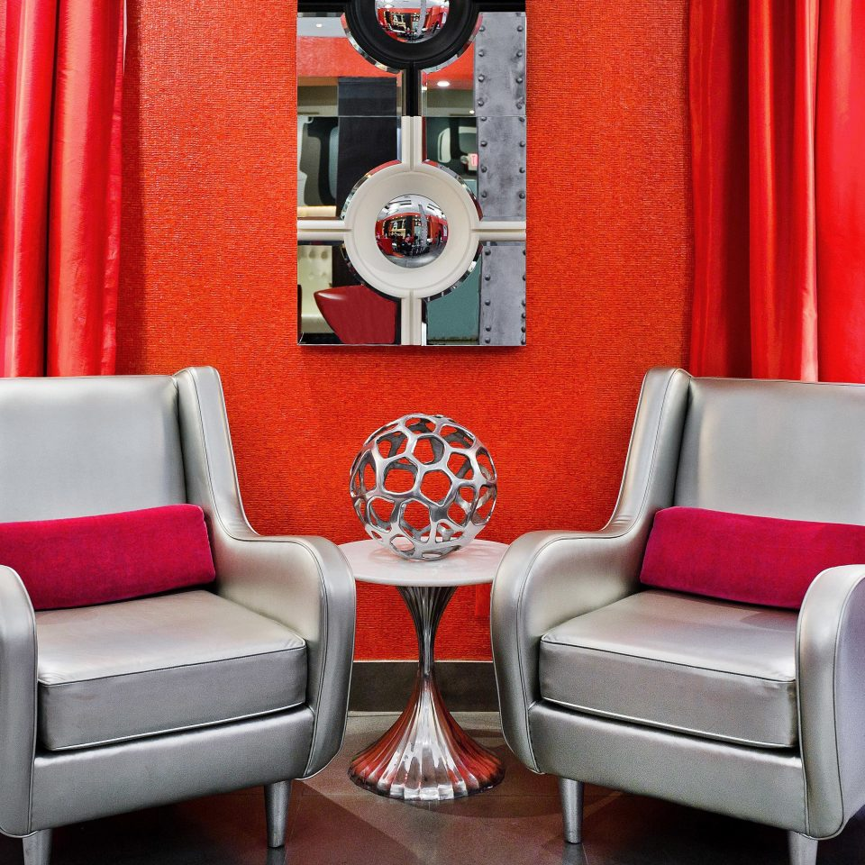 Hip Lobby Lounge Modern red living room Suite chair