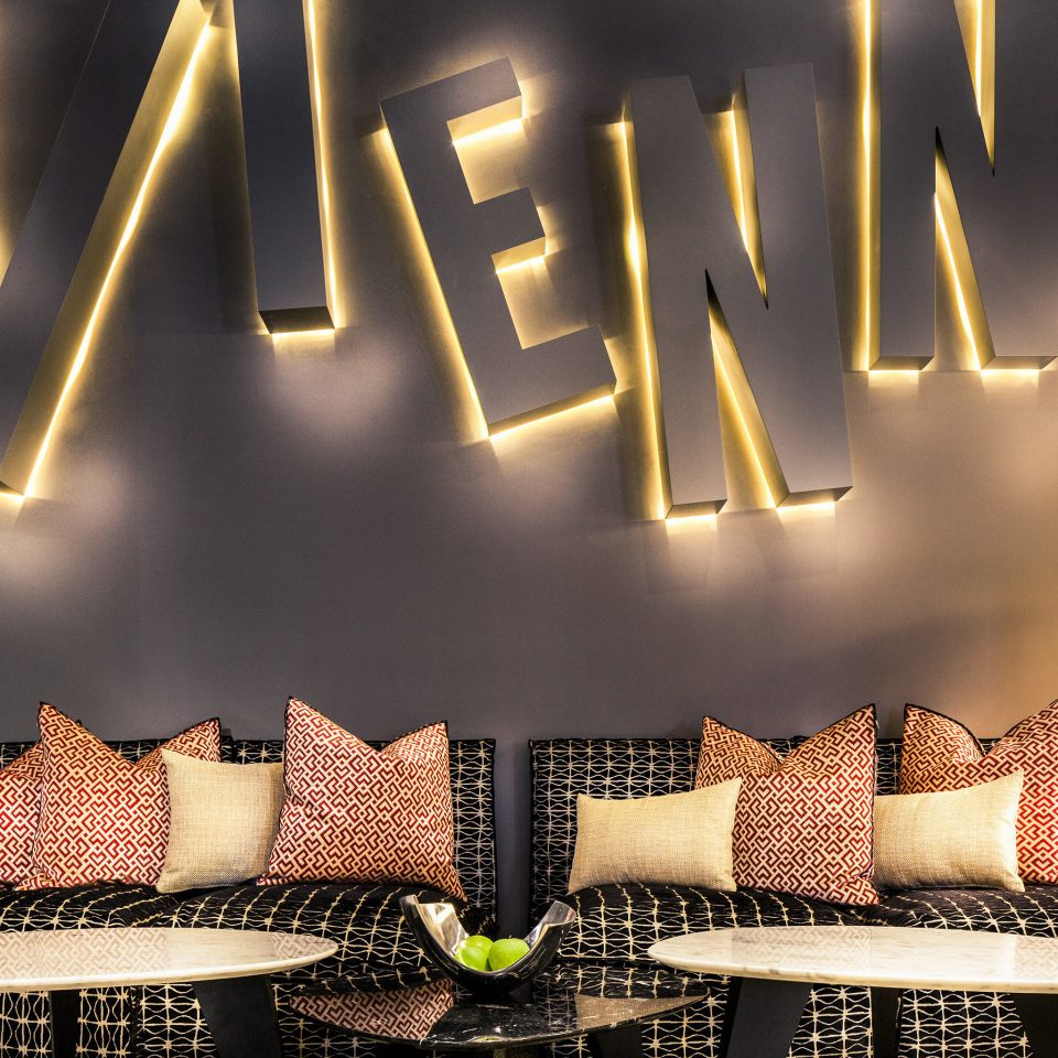 Hip Lounge font lighting lamp colored