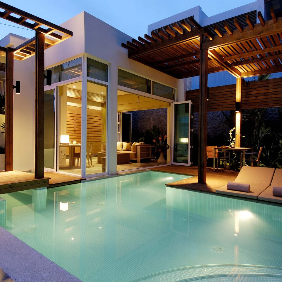 Hip Lounge Luxury Modern Pool swimming pool property building leisure Resort condominium Villa home mansion