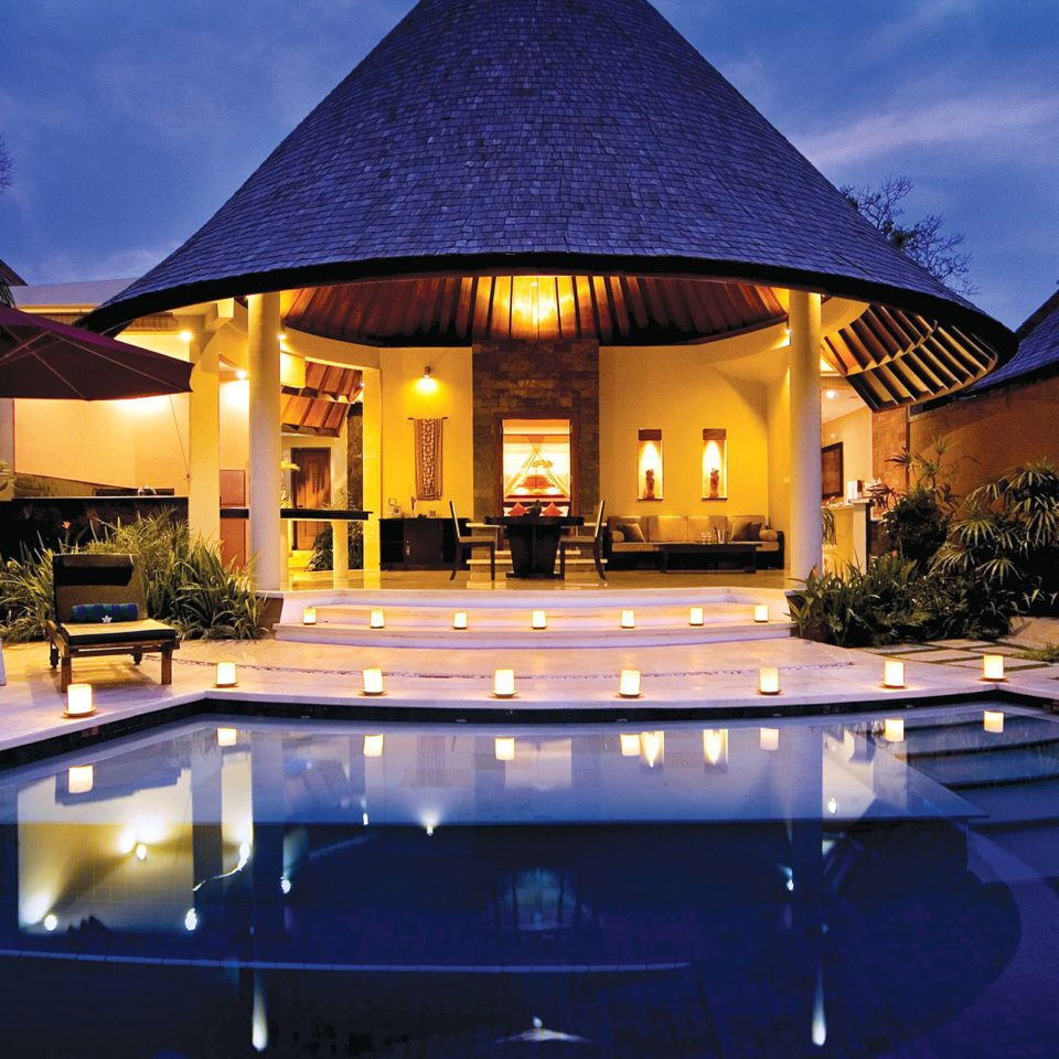 Hip Lounge Luxury Modern Pool sky swimming pool Resort building house home mansion Villa landscape lighting