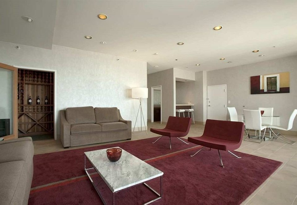 Hip Lounge Luxury Modern Scenic views property living room red Suite condominium