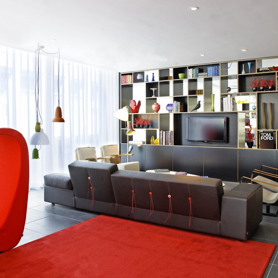 Hip Lounge Luxury Modern living room red office sofa