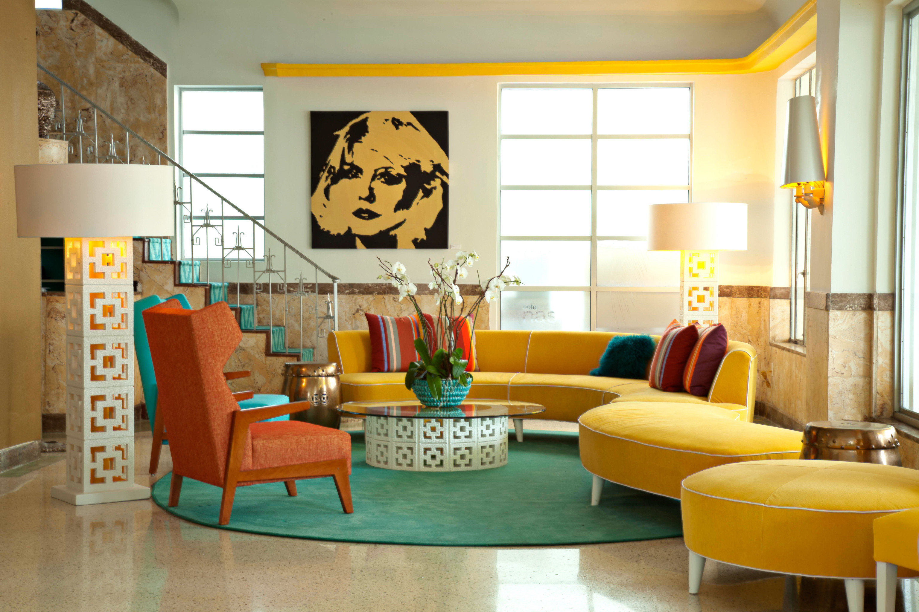 Hip Lounge Luxury Modern color living room property yellow home