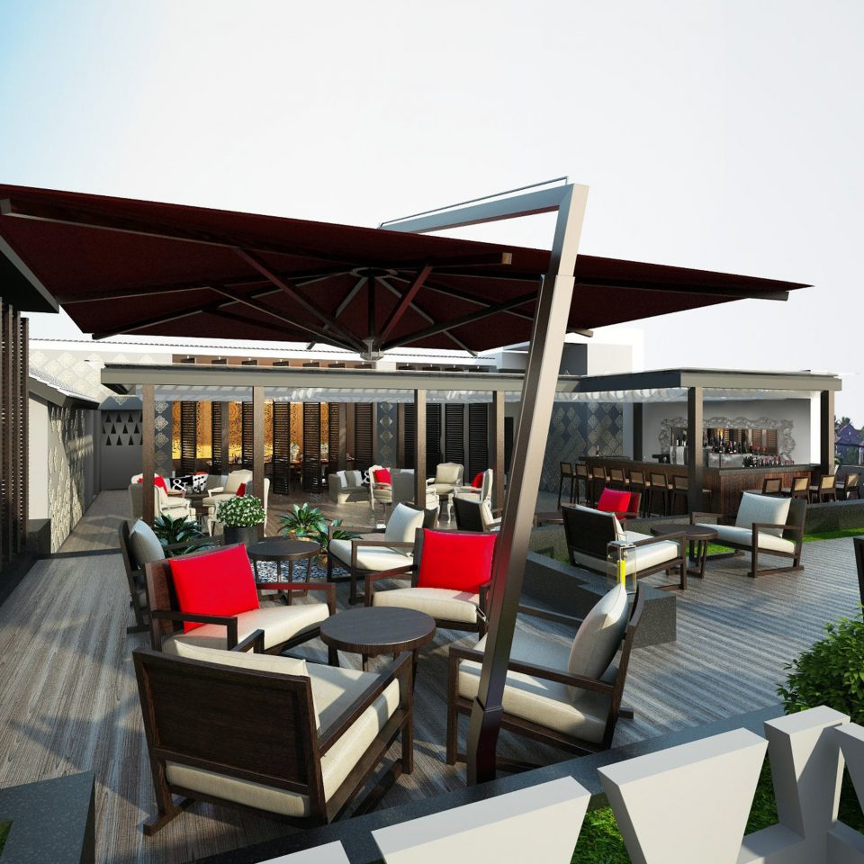 Hip Lounge Luxury Modern sky building restaurant outdoor structure canopy
