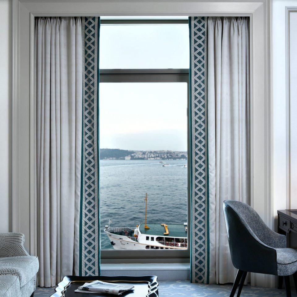Hip Lounge Luxury Modern chair curtain living room window treatment home textile decor window blind lamp