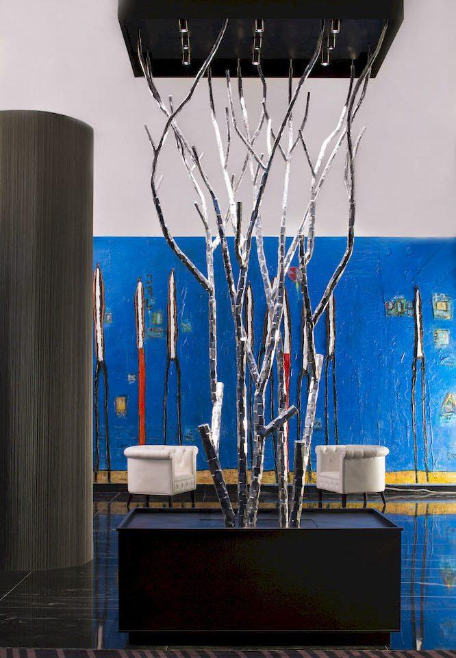Hip Lounge Luxury Modern blue modern art display device art lighting display window light fixture flat panel display signage glass