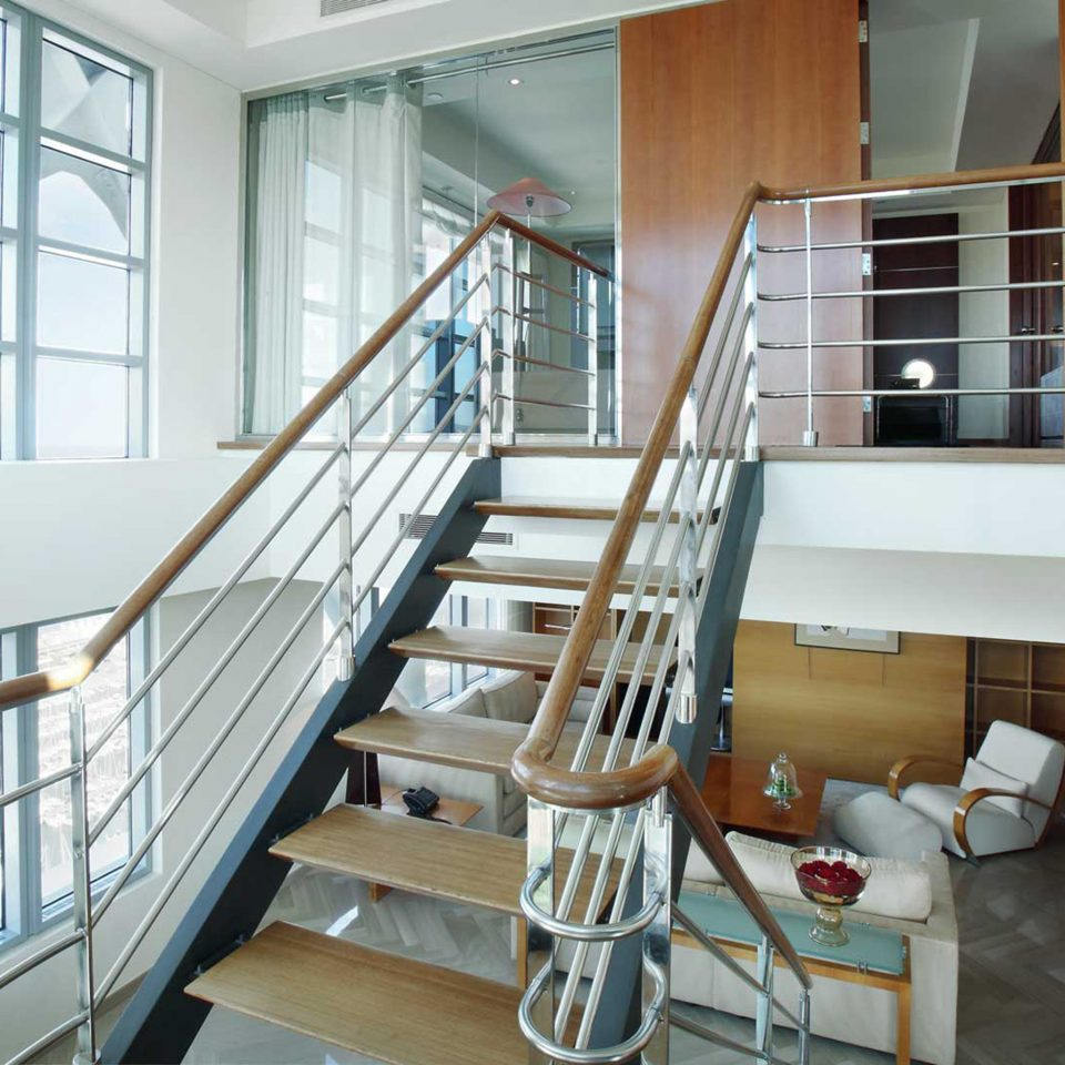 Hip Lounge Luxury Modern Scenic views property stairs handrail daylighting home condominium loft