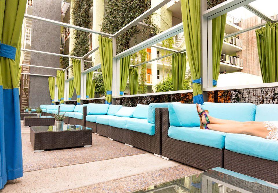 Hip Lounge Luxury Modern leisure swimming pool property Resort backyard condominium Villa blue colored