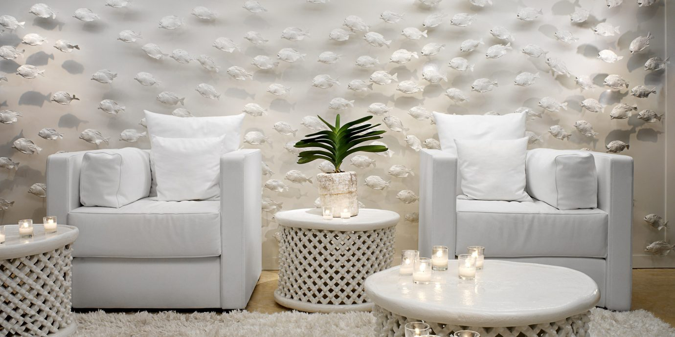 Hip Lounge Luxury Modern white living room wallpaper textile flooring