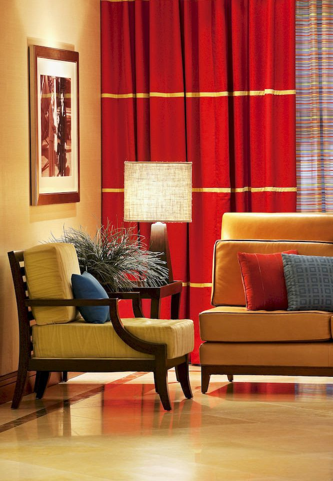Hip Lounge Luxury red living room chair hardwood home curtain flooring window treatment wood flooring textile Suite colored