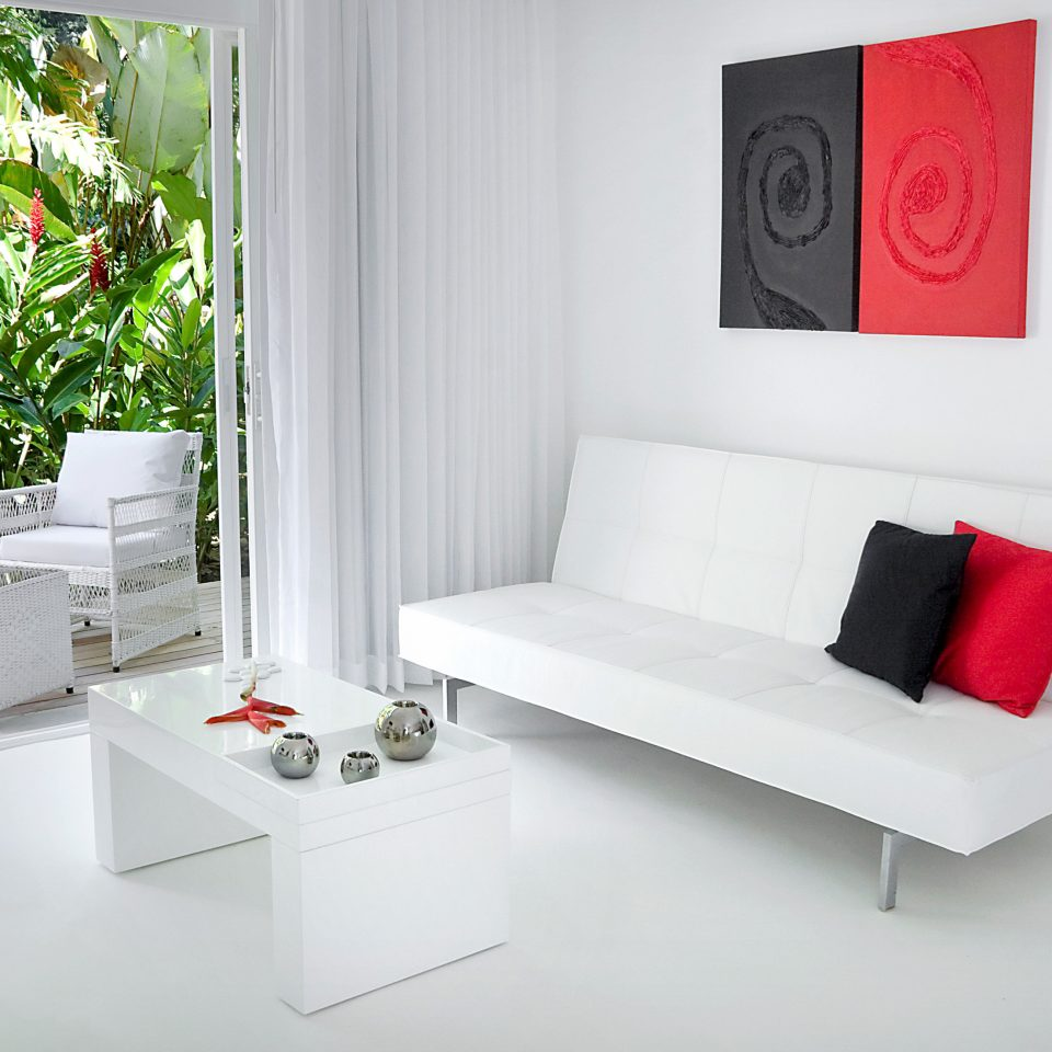 Hip Lounge Luxury Tropical color red white product living room home modern art