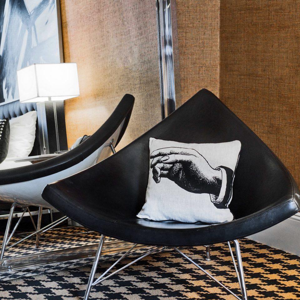 Hip Lounge Modern chair black seat footwear sitting shoe