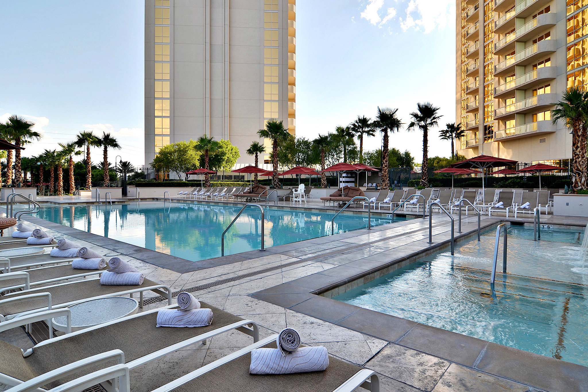 Hip Luxury Pool sky building swimming pool leisure condominium property Resort plaza reflecting pool marina resort town dock palace day colonnade